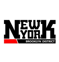 T shirt typography New York Brooklyn district vector image