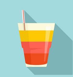 Tonic cocktail icon flat style vector