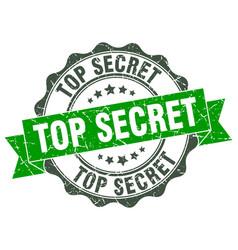 top secret stamp sign seal vector image vector image