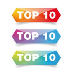 top ten best button vector image