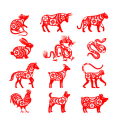 Traditional chinese zodiac vector