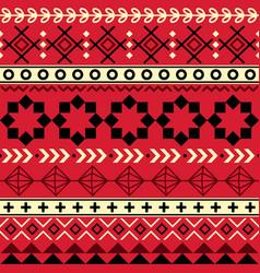 tribal aztec seamless geometric pattern navajo vector image