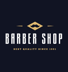 vintage barber shop logo labels badges and vector image