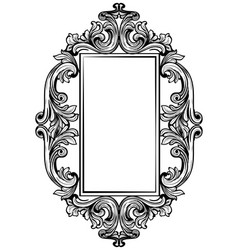 Vintage baroque frame decor detailed ornament vector