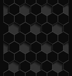 volumetric seamless pattern of hexagons vector image