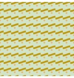 Wave and polka dot seamless pattern 1807 vector image vector image