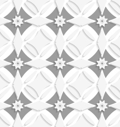 White ornament and gray crosses vector image