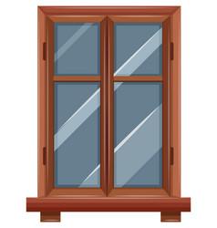 Window with wooden border vector