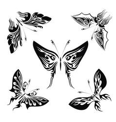 wonderful butterflies set vector image