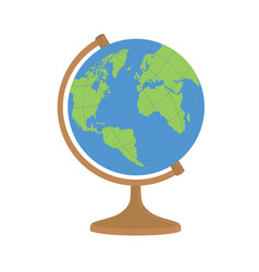 world globe on a stand vector image