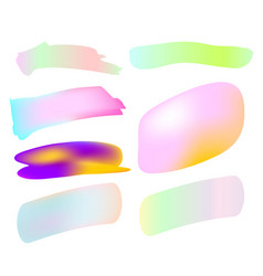 abstract gradient shapes and strokes isolated vector image vector image