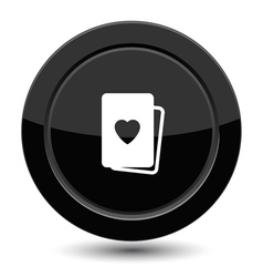 Button with cards vector image
