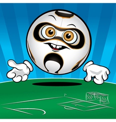 funny smiling soccer ball vector image