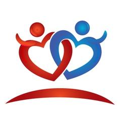 Hearts figures logo vector image vector image
