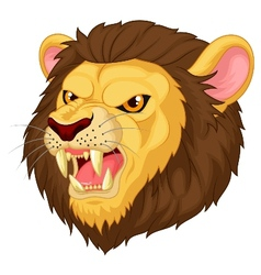 Angry lion head mascot cartoon vector image