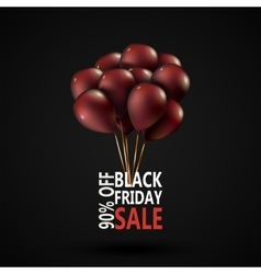 Black Friday sale inscription photorealistic vector image vector image