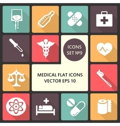 Creative concept flat icons of medical vector