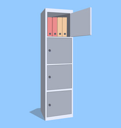 steel cabinet for locker office the security vector image