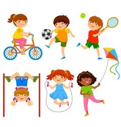 active kids vector image