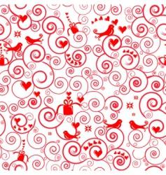 Christmas swirl pattern vector image vector image