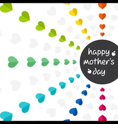 colorful mothers day greeting design vector image vector image