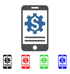 mobile bank options icon vector image