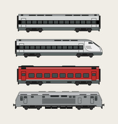 trains vector image vector image