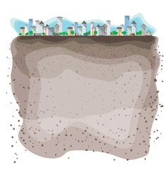 under the city vector image vector image