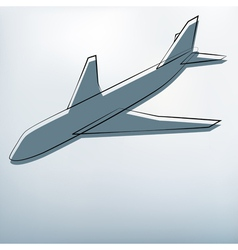 Background with airplane symbol vector image vector image