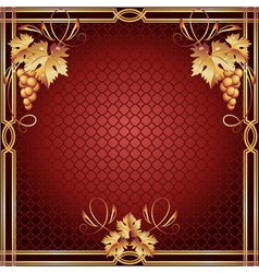 Background with golden frame vector image