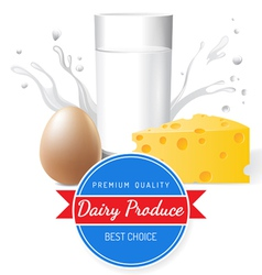 dairy produce vector image