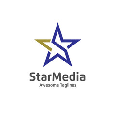 letter s star color logo vector image vector image