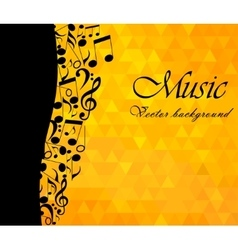 Music Backgound musical notes - vector image vector image