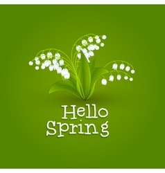 Spring background with snowdrops Hello Spring vector image vector image