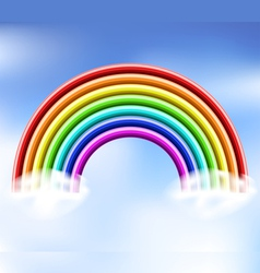 3d rainbow in the sky vector image
