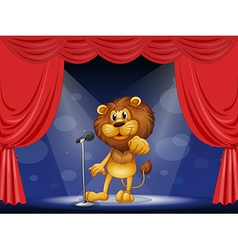 A lion standing in the limelight vector image