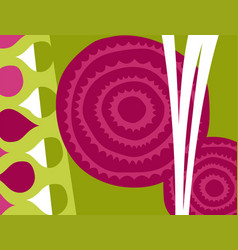 Abstract beets vegetable design vector