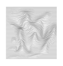 abstract motion rippled surface stripe vector image