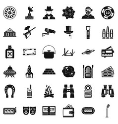 Adult games icons set simple style vector