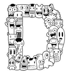 Alphabet d vector