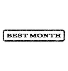Best month watermark stamp vector
