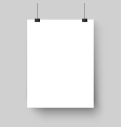 Blank white poster template affiche paper sheet vector