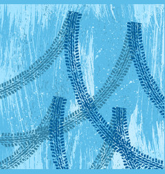blue tire track background vector image