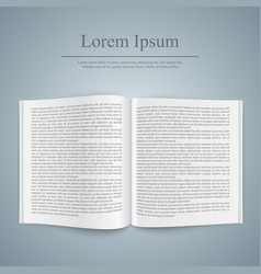 book with text template realistic icon vector image