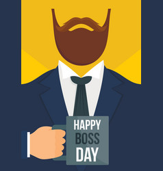 boss day vertical banner flat style vector image
