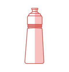bottle sport gym shadow vector image