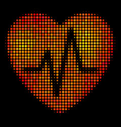 Bright pixel cardiology icon vector