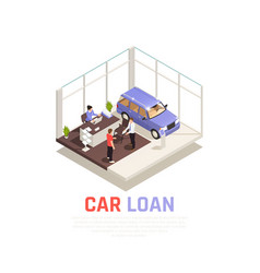 Car dealership concept vector