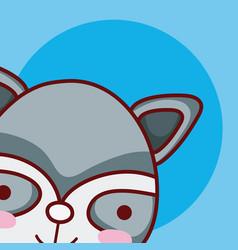 cat cute animal cartoon vector image