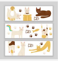 Cats concept friendly vector